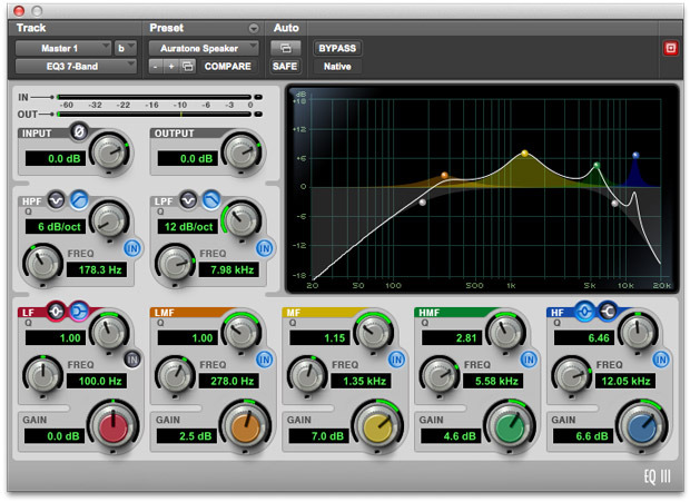 This Preset Emulates The Auratone Speakers
